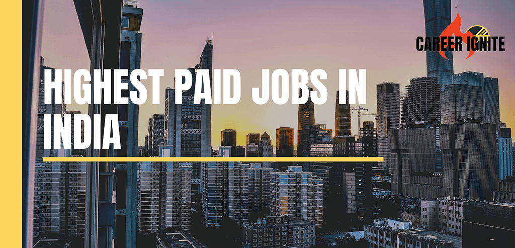 highest paid jobs in India